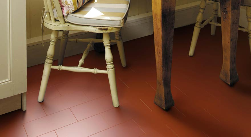 Doncaster Kitchen Fitters Flooring - Little Bricks kitchen vinyl flooring in Venetian Red