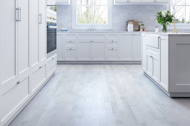 Doncaster Kitchen Fitters - Grey Laminate Flooring